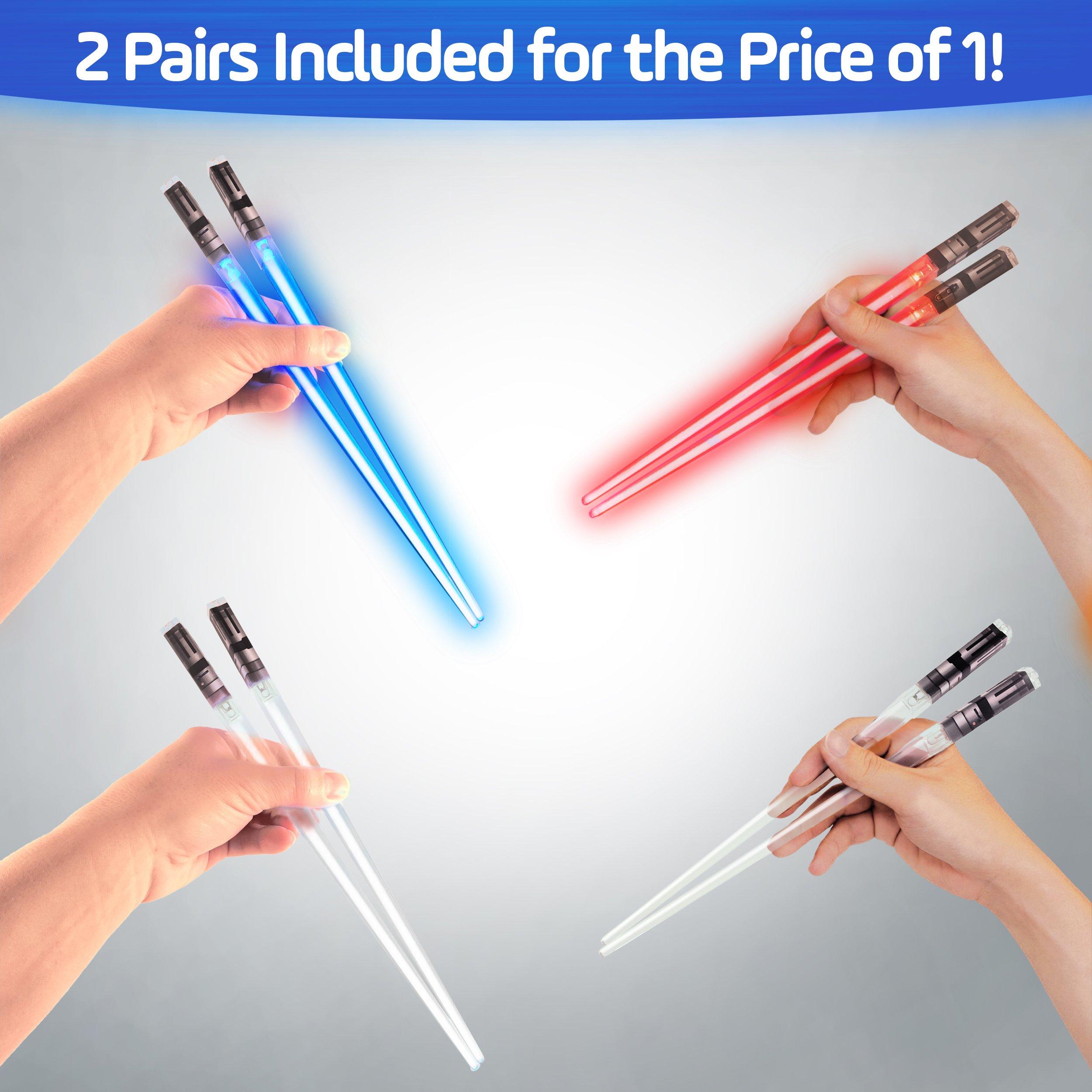 Sabers Chop Lightsaber Led Light Up Chopsticks 2 Pair Red Blue by Chopsabers (Image #4)