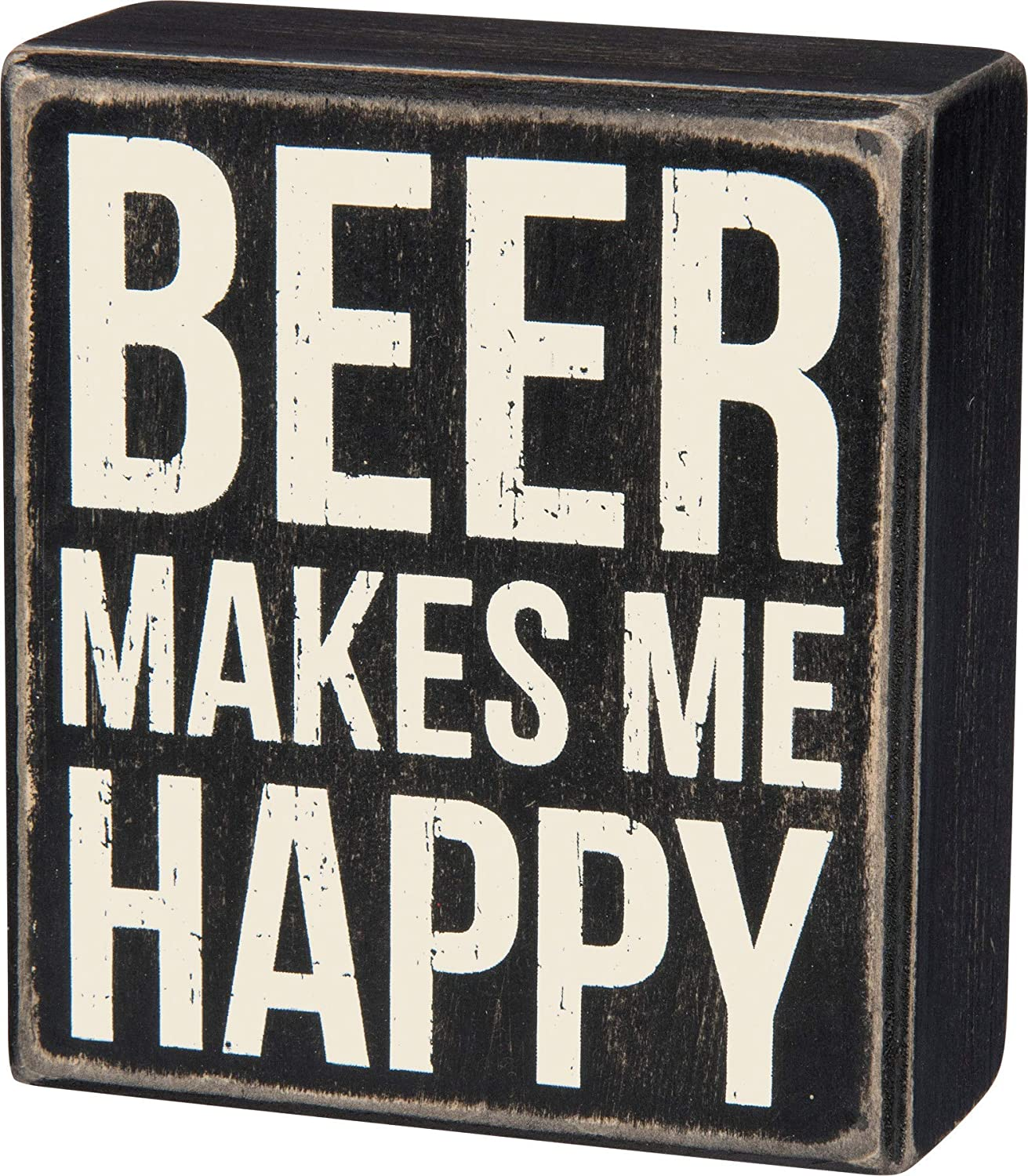 Primitives by Kathy Classic, Box Sign, Beer Makes Me Happy