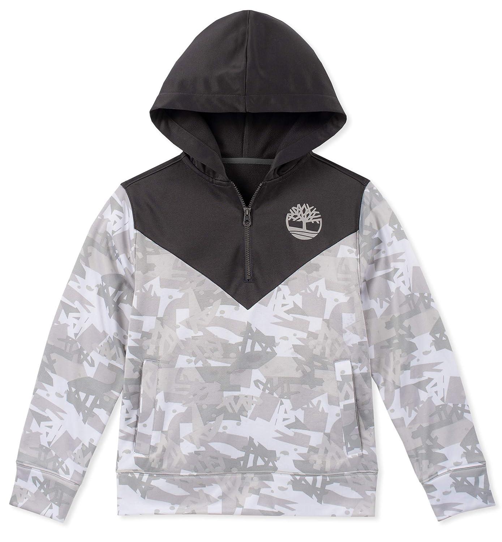 Timberland Boys' Big Long Sleeve Signature Logo Fleece Hoodie