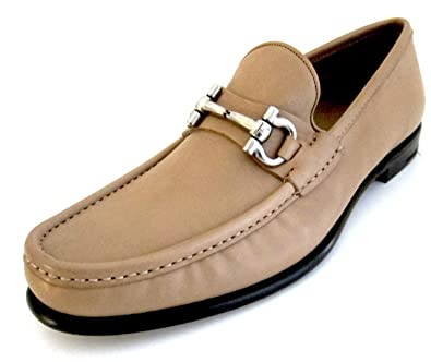 33846c37e2a Salvatore Ferragamo Mason Mens tan Leather Loafers Shoes Made in Italy (8  D(M