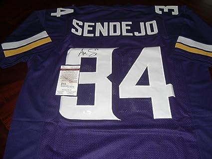 Signed Andrew Sendejo Jersey - Purple coa - JSA Certified - Autographed NFL  Jerseys 9d0bba238