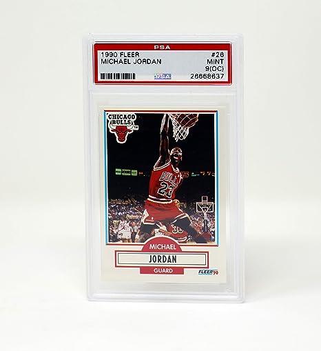 a38afa7e5ec24 Amazon.com : Fleer 1990 Michael Jordan Chicago Bulls #26 Mint PSA 9 ...