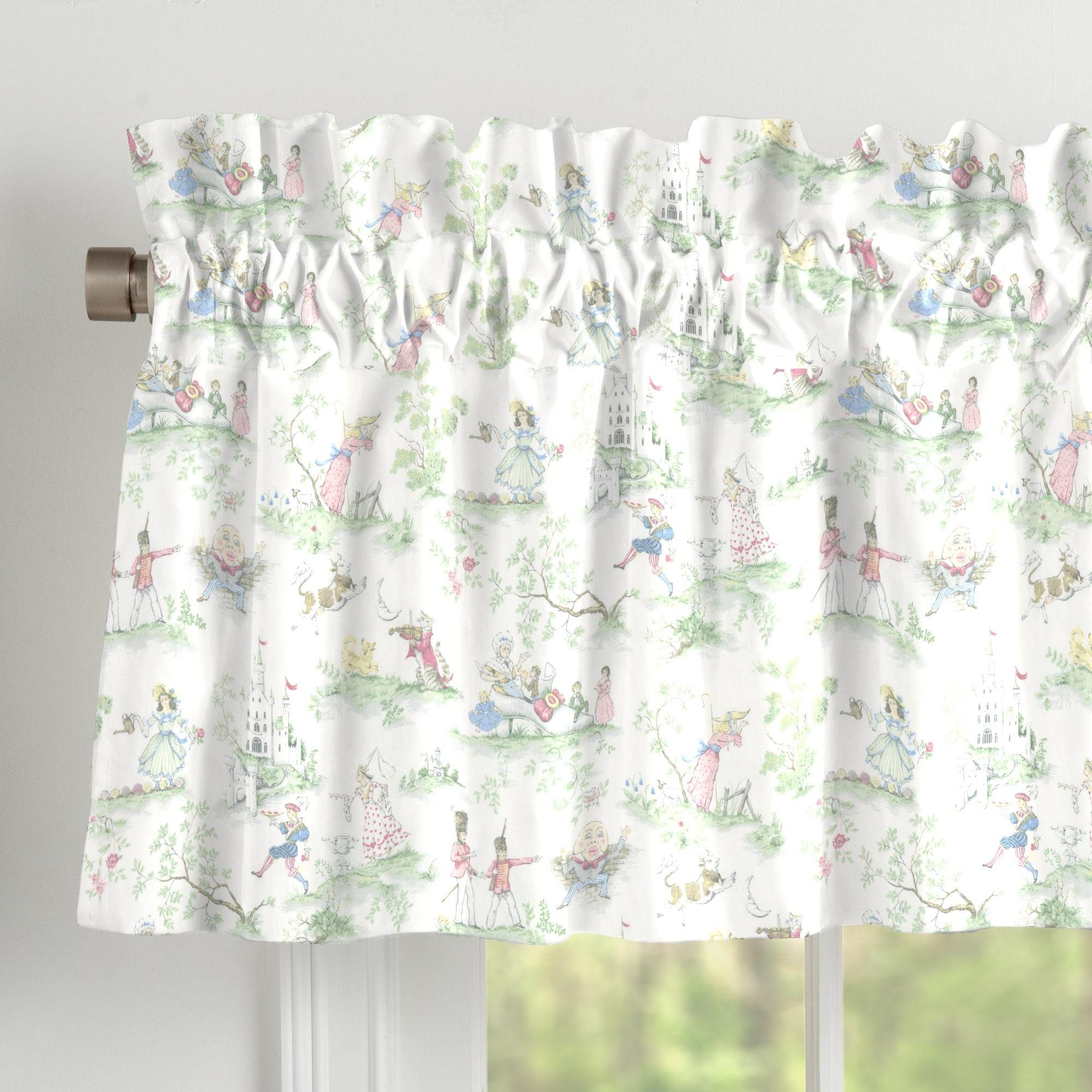 Carousel Designs Nursery Rhyme Toile Window Valance Rod Pocket by Carousel Designs