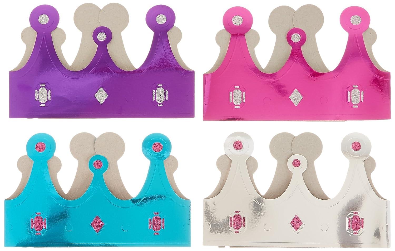 Pink /& Teal Crowns 12 Per Pack