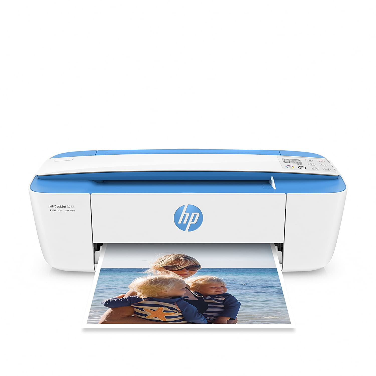 Amazon.com: HP DeskJet 3755 Compact All-in-One Wireless Printer with Mobile  Printing, HP Instant Ink & Amazon Dash Replenishment ready - Blue Accent ...