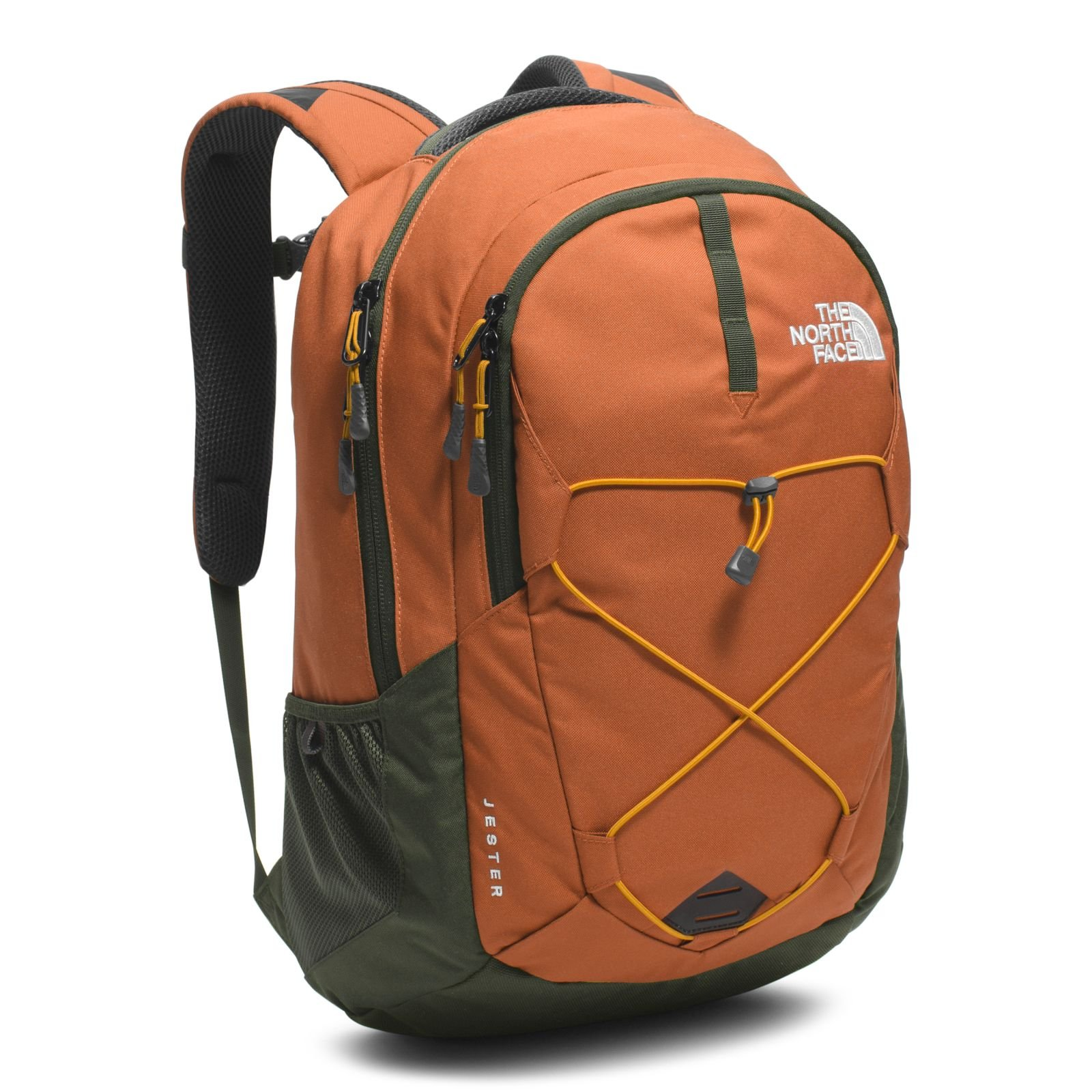 The North Face Unisex Jester Gingerbread Brown/Citrine Yellow Backpack by The North Face