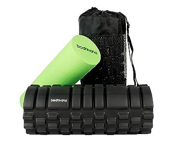 2-en-1 Bodhivana rodillo de espuma para los músculos; Colchoneta masaje profundo; Diseño de rodillos de puntos gatillo musculares; Libre de guía ...