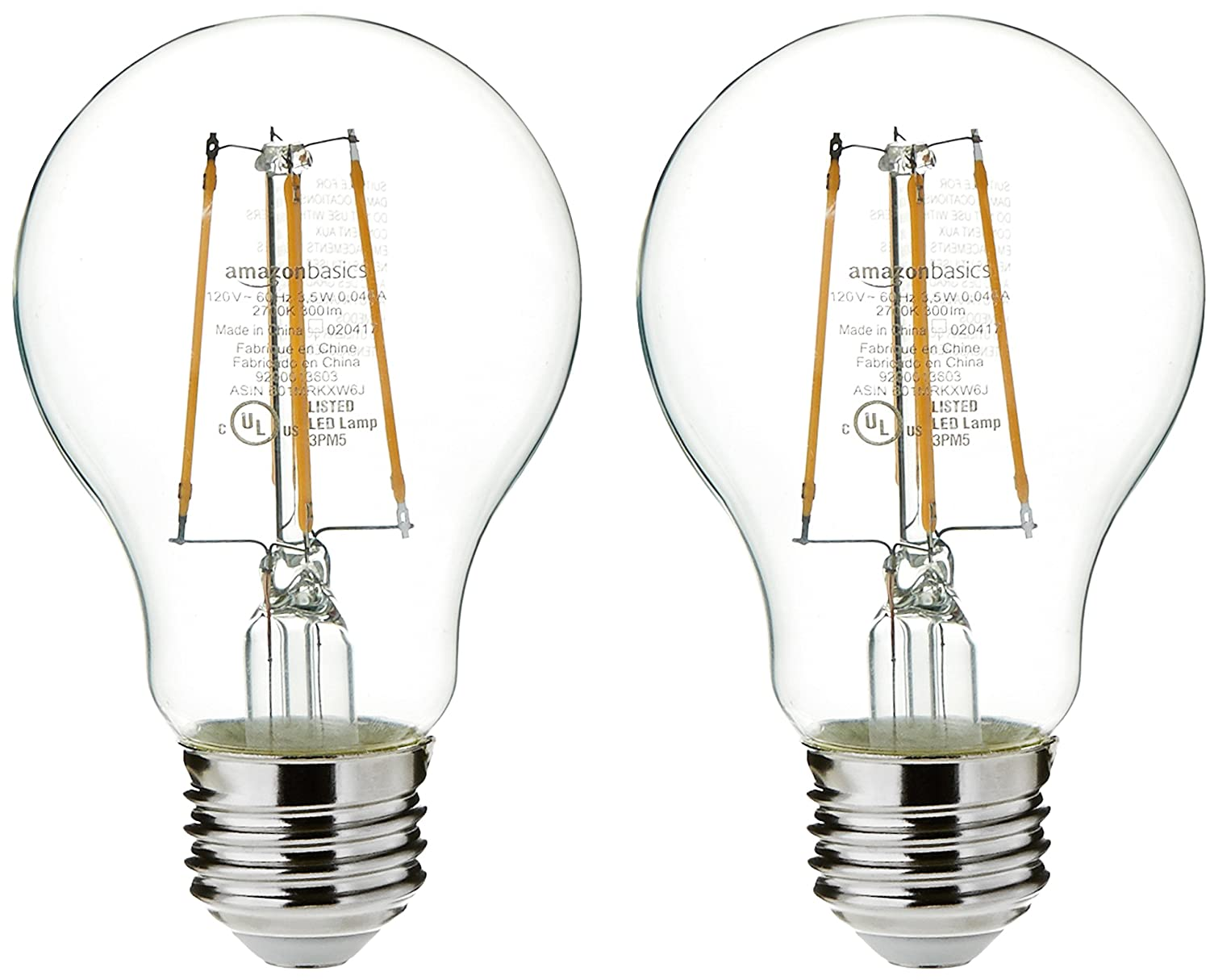 AmazonBasics 100 Watt Equivalent, Daylight, Non-Dimmable, A21 LED Light Bulb, 6-Pack 29