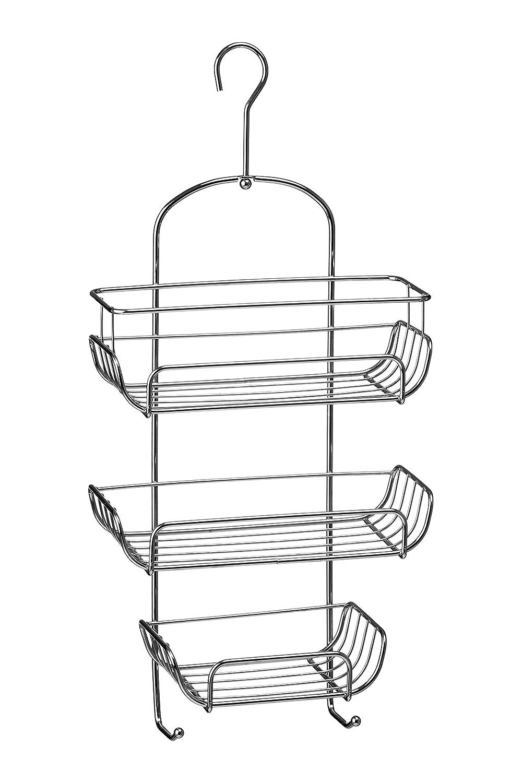 Premier Housewares 3-Tier Chrome Wire Shower Caddy (52 x 25 x 11 cm ...