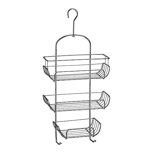 Premier Housewares 3-Tier Chrome Wire Shower Caddy (52 x 25 x 11 cm) - Silver