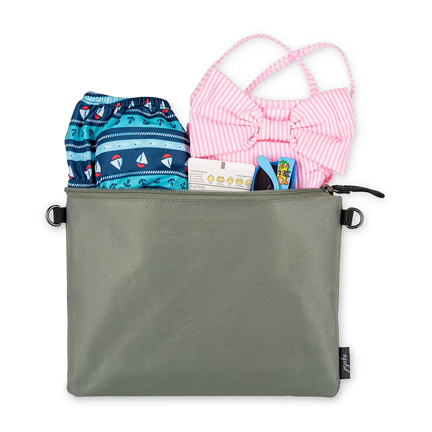 Glacier Grey Baby Strollers Waterproof Reusable Bags On The Go 3-in-1 Set Organization for Diaper Bags JuJuBe Dry Wet Bags Machine Washable Travel Bags with Zipper Closure