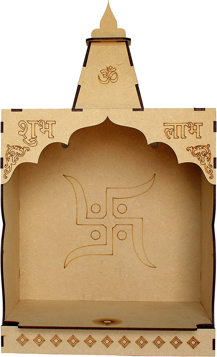eSplanade DIY MDF Temple Puja Mandir Temple for Home Shop Office | Build Your Own Mandir | Pooja Articles