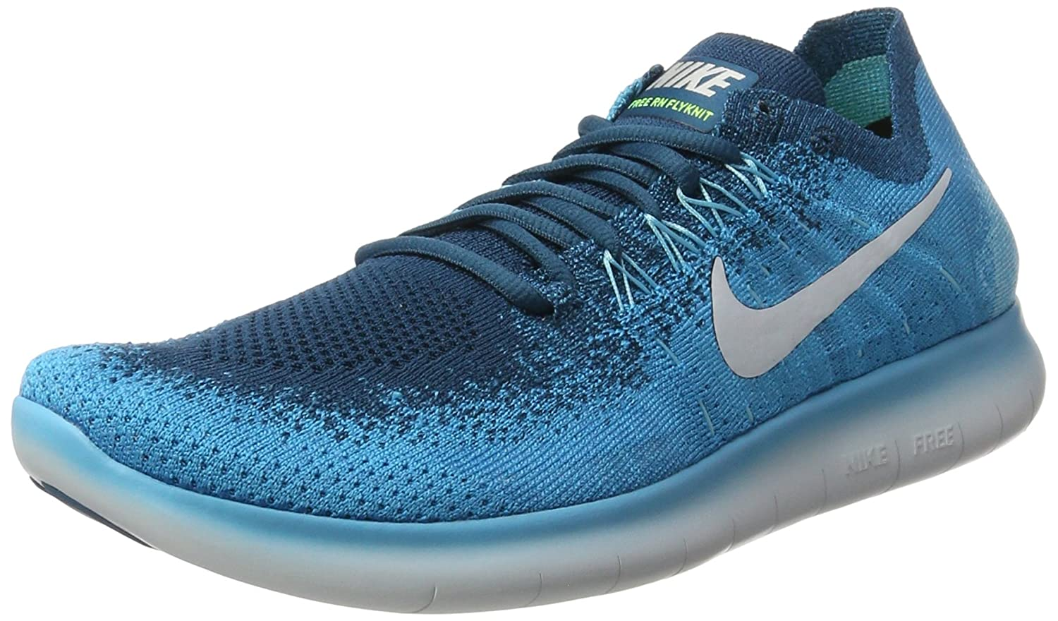 455025c2b2f7a Nike Free Rn Flyknit 2017 Sz 10 Mens Running Blue Lagoon Pure  Platinum-Legend Blue Shoes  Buy Online at Low Prices in India - Amazon.in