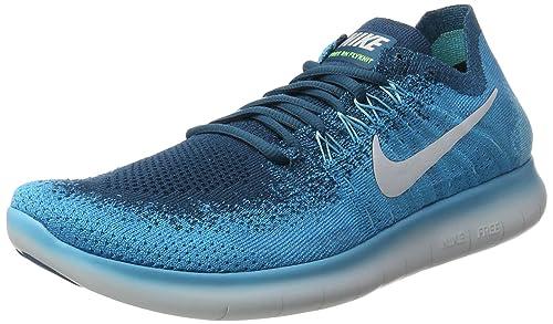 0306942e1d72e Nike Men s Free Rn Flyknit 2017 Lagoon Pltnm-Blue Running Shoes-11 ...