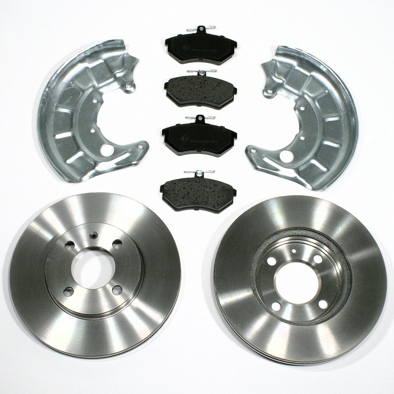 Bremsscheiben Bremsen Bremsbel/äge Spritzbleche vorne Vorderachse