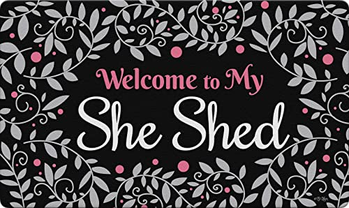 Toland Home Garden 800515 She Shed Welcome 18 x 30 Inch Decorative, Doormat