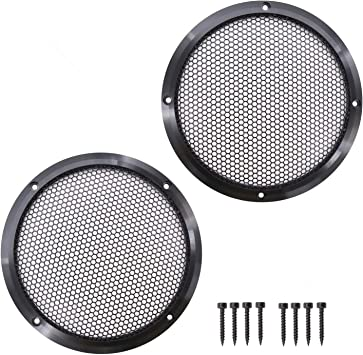 Magicsource 10 Woofer Speaker Grills Aluminum Alloy Frame Metal Mesh Cover for Car or Home Audio Protective Case Car Audio Refitting Subwoofer Cover Silver