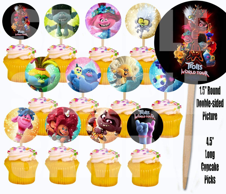 Lming 12 Counts Glitter Cake Toppers zum Dekorieren von Frozen Cupcake Toothpicks Frohe Weihnachten und EIN gutes neues Jahr mit 10 Sternen