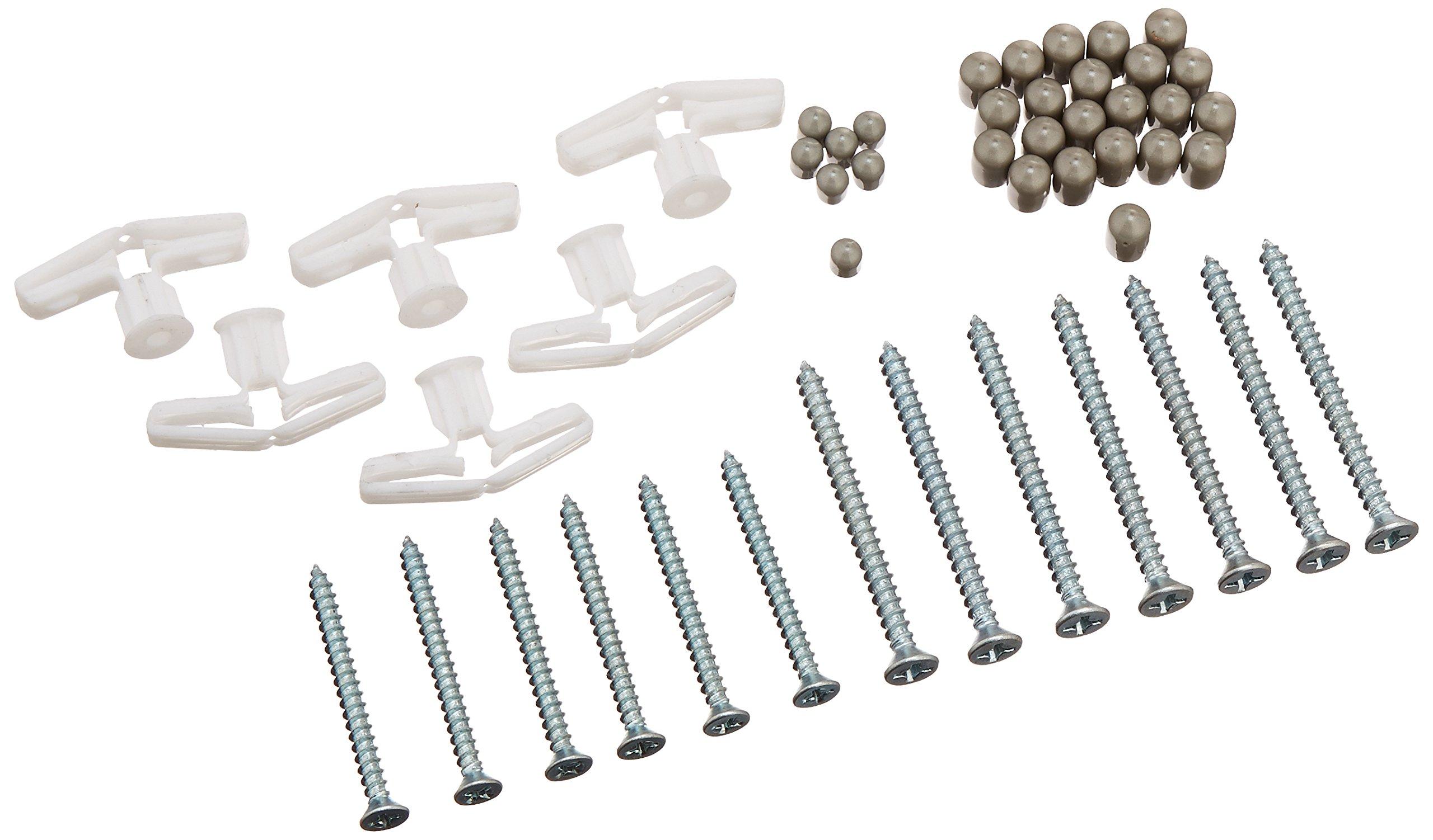 Rubbermaid Fast Track Adjustable Closet System Hardware Kit, Satin Nickel (1791597)