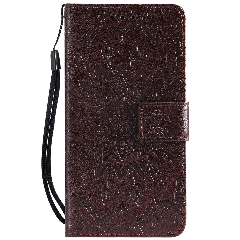 LOKTU22211 Rot Lomogo LG K11 H/ülle Leder Schutzh/ülle Brieftasche mit Kartenfach Klappbar Magnetverschluss Sto/ßfest Kratzfest Handyh/ülle Case f/ür LG K11
