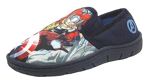 Marvel - Zapatillas de estar por casa de Material Sintético para niño Azul azul marino, color Azul, talla 34 EU: Amazon.es: Zapatos y complementos