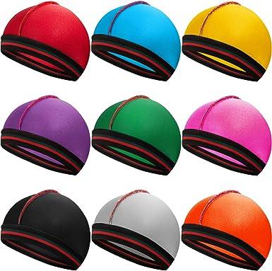 9 Piezas Gorras Sedosas Gorras de Onda de Banda Elástica Sombreros ...