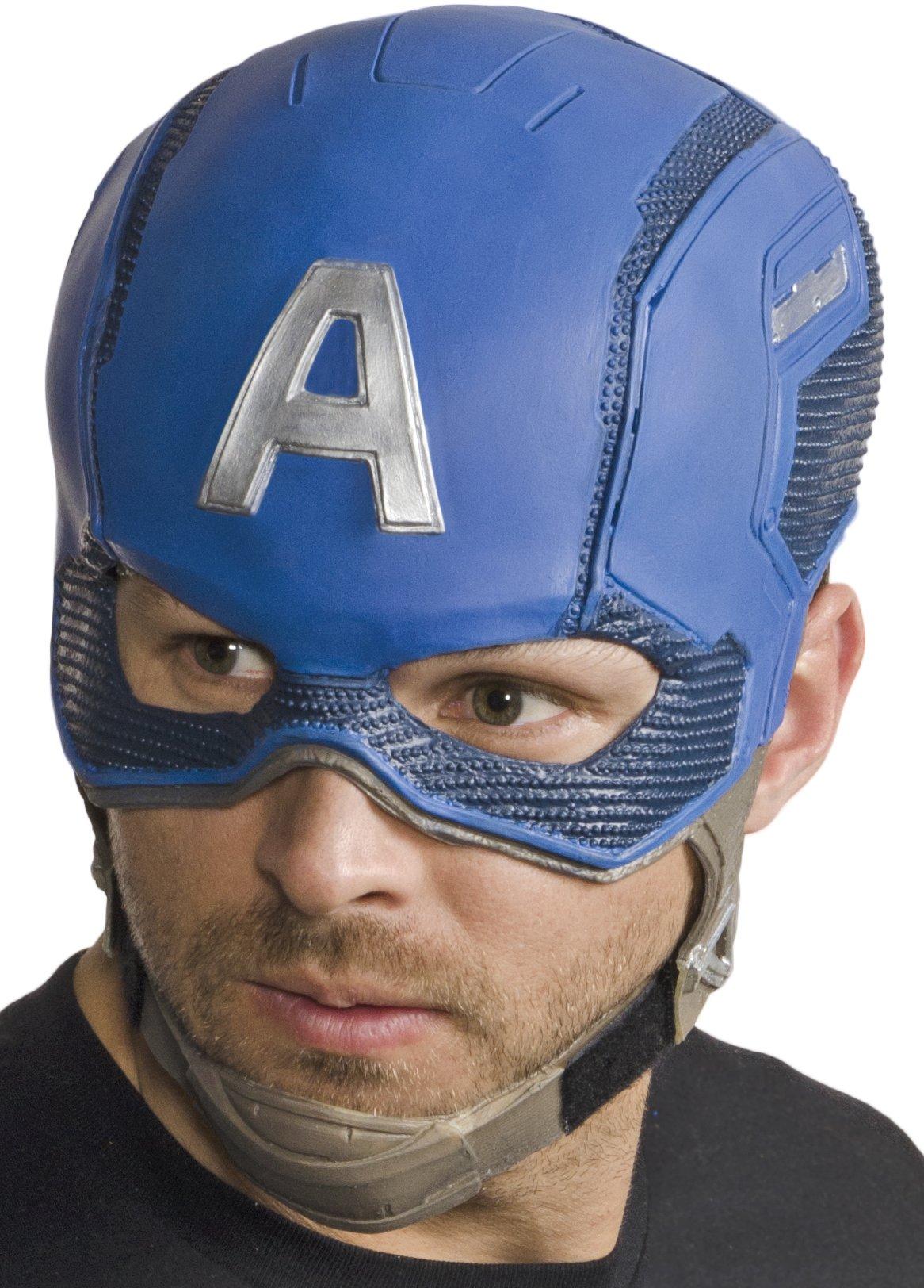 Marvel Men's Civil War Captain America Full Vinyl Mask, Multi, One Size
