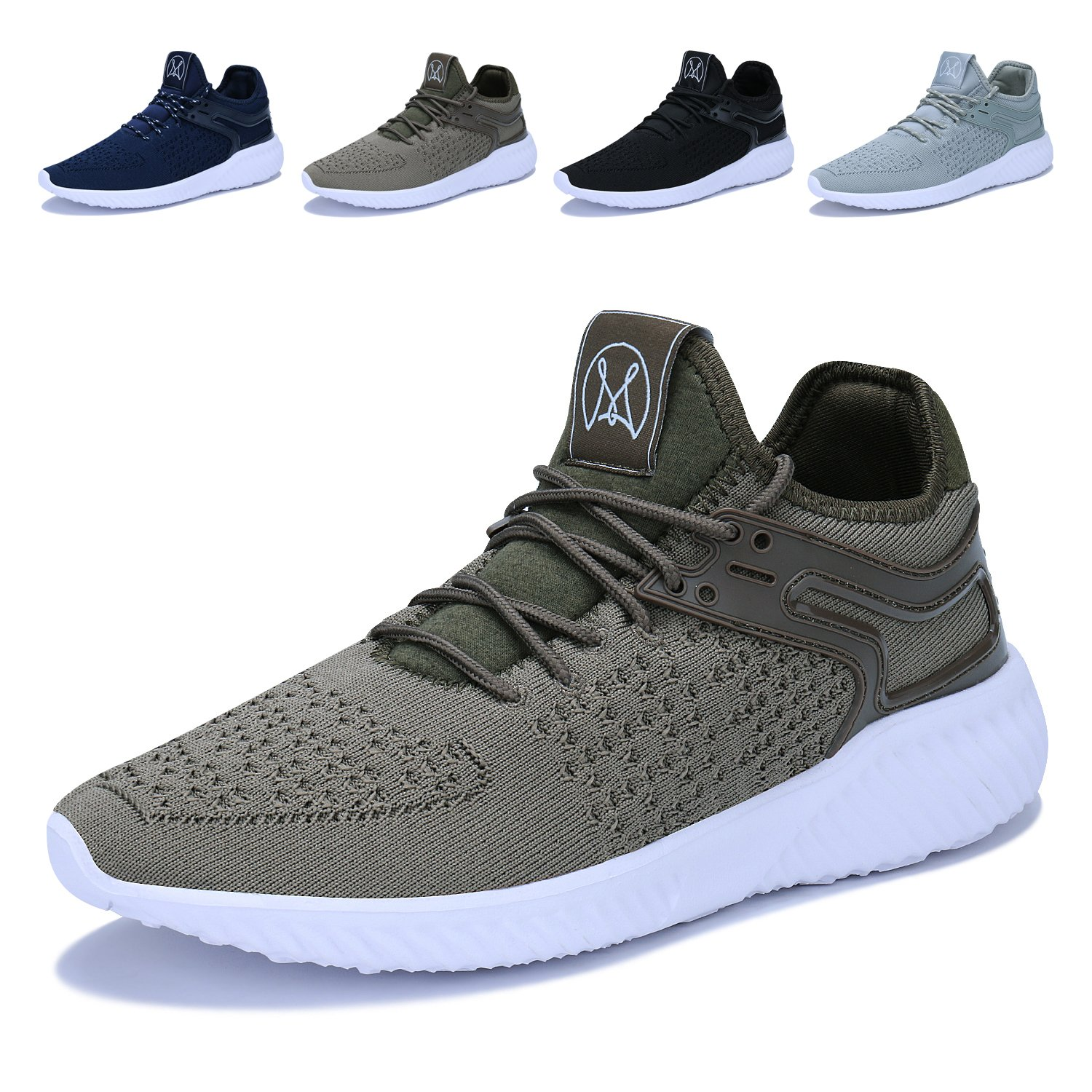 Men's Casual Walking Shoes Lightweight Breathable Running Tennis Sneakers (8 D(M) US, 04-Khaki)