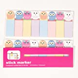Happy Star® 120 Sheets Cute Owls Birds Mini Sticky Notes Page Marker Memo Tab Sticker