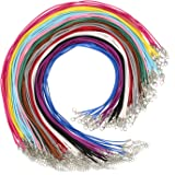 72 Stück Faux Wildleder Schnur Synthetisch Leder Halskette Schnüre Kette mit Karabinerverschluss Verlängerungskette für DIY Schmuckherstellung, 12 Farben