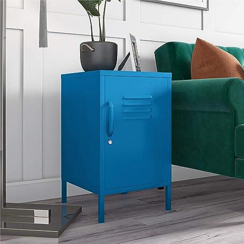 Novogratz Cache Metal Locker, Blue End Table