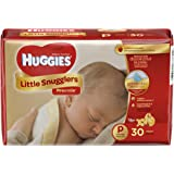 Huggies Little Snugglers Baby Diapers, Size Preemie, 30 Count (Pack of 2)