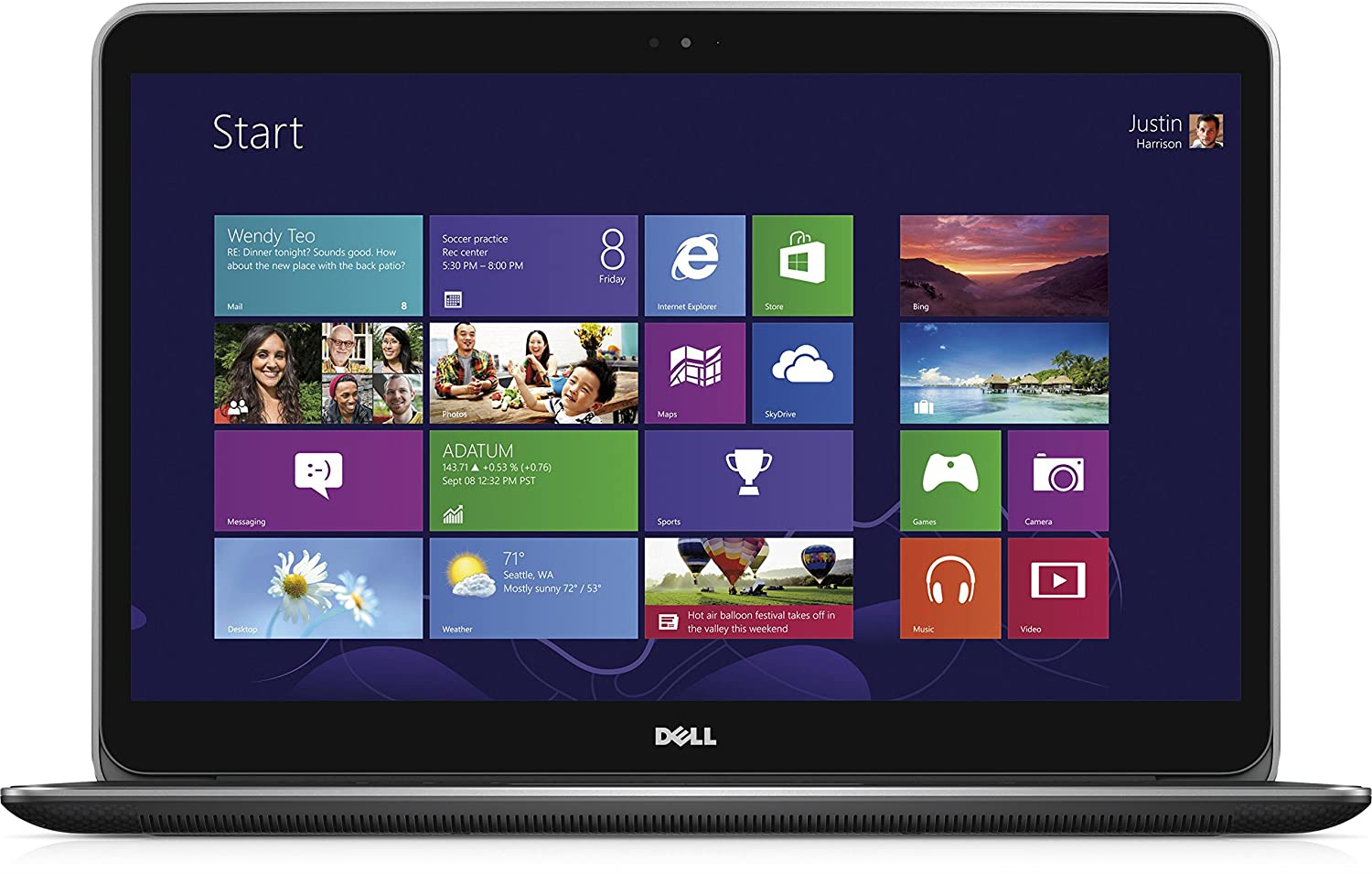 DELL XPS 9530 - Ordenador portátil (i7-4712HQ, Touchpad, Windows 8.1, Polímero de litio, 64 bits, Intel Core i7-4xxx): Amazon.es: Informática