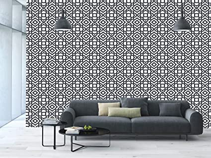 . Amazon com  Large Wall Mural Sticker   Geometric Vintage Abstract