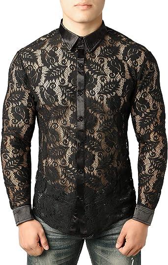 HaoDong Mens Loose-Fit Short Sleeve Plaid Shirt Button Down Shirt Summer