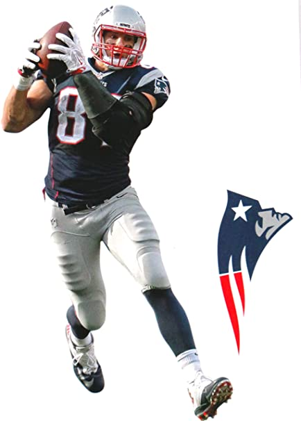 9bff7b79b27 Image Unavailable. Image not available for. Color  FATHEAD Rob Gronkowski  Mini Graphic New England Patriots Logo Official NFL ...