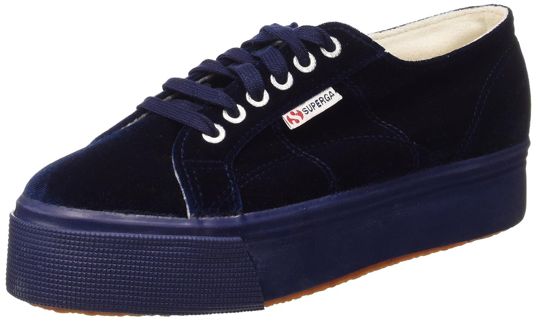 2790-Velvetw - Zapatillas de Tela para Mujer Azul 381 Blue 41 Superga RTsYF9