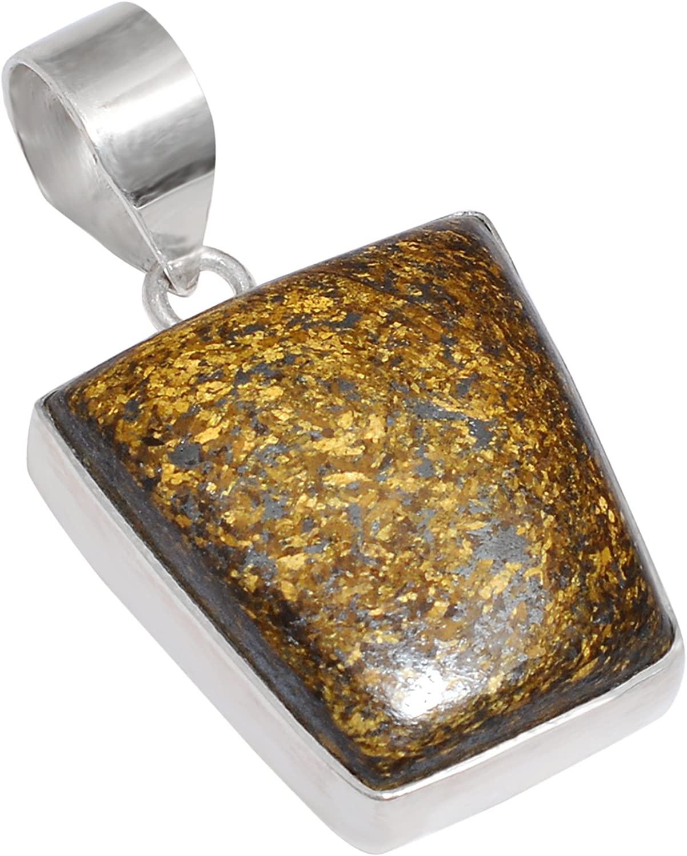 1 Piece Bronzite Cabochon Gemstone,25x13mm,10Gram,Silver Pendant