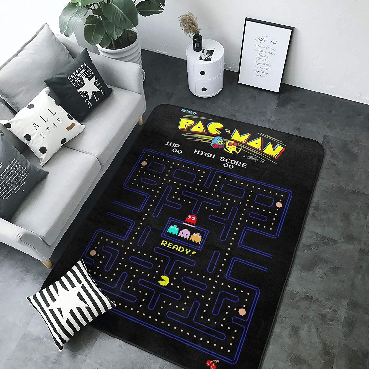 Arcade Video Game Carpets Non-Slip Area Rugs Home Decor Floor Mat Living Room Bedroom Carpets Doormats