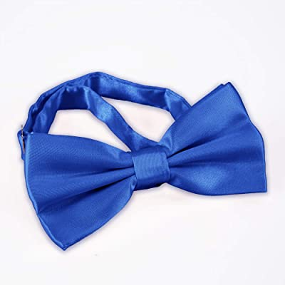 1d256a457ba5 AVANTMEN Men's Bowties Formal Satin Solid – 12 Pack Bow Ties Pre-tied  Adjustable Ties for Men Many Colors Option