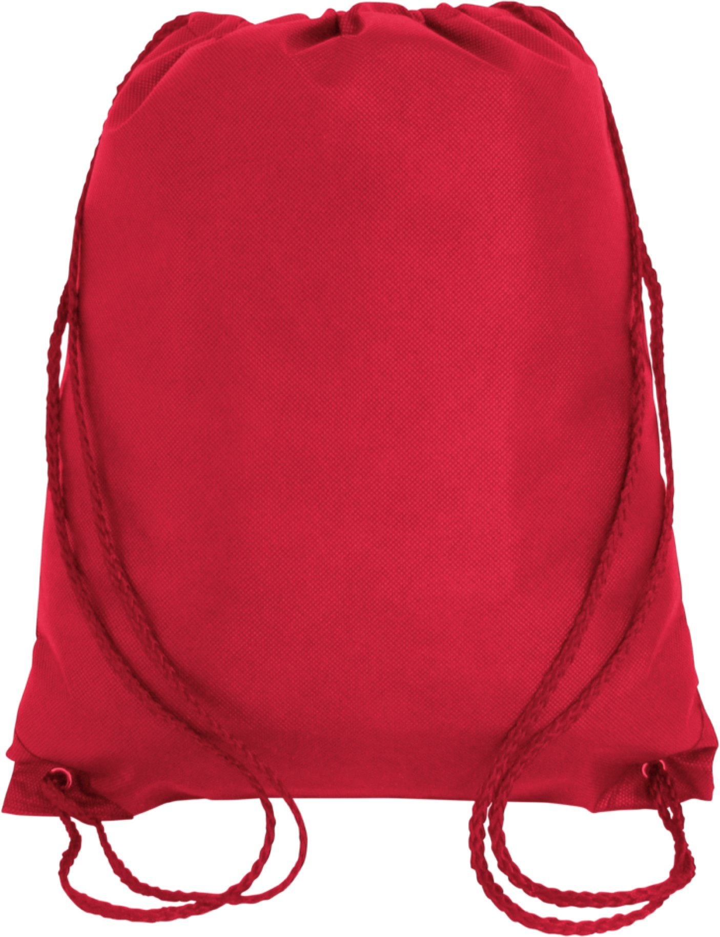 Promotional Non-Woven Drawstring Backpacks for Giveaway Favors or Daily Use, Red, Set of 50
