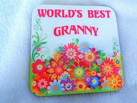 Mundos mejor abuela posavasos de cumpleaños regalo para el ...