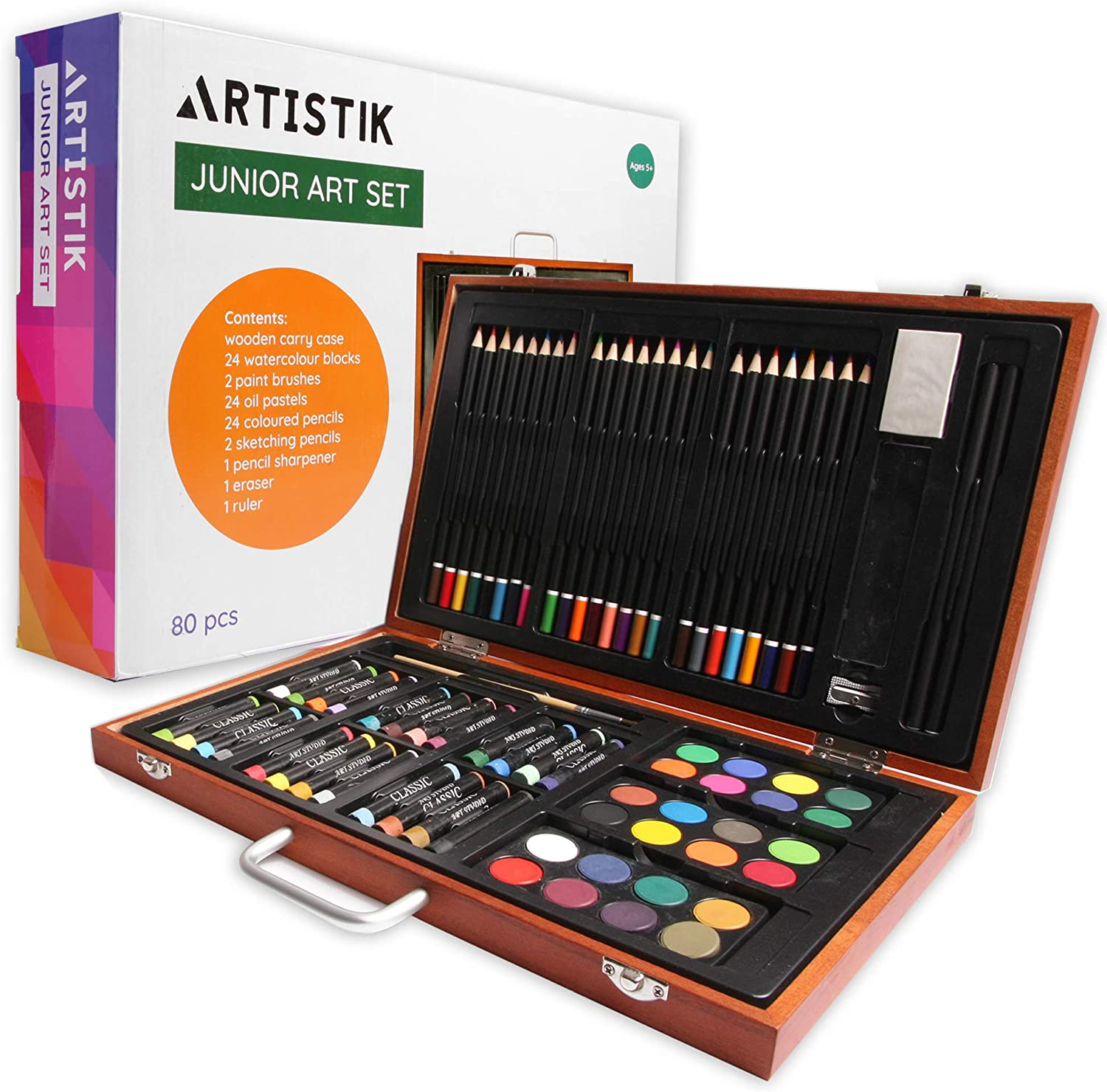 Art Case Set for Kids and Adults Painting 140 Pieces Kit Xmas Artist Drawing