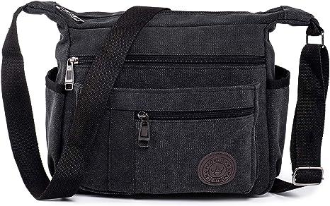 Mens Accessory Shoulder Bag Canvas Messenger Crossbody Sling School Travel Bag