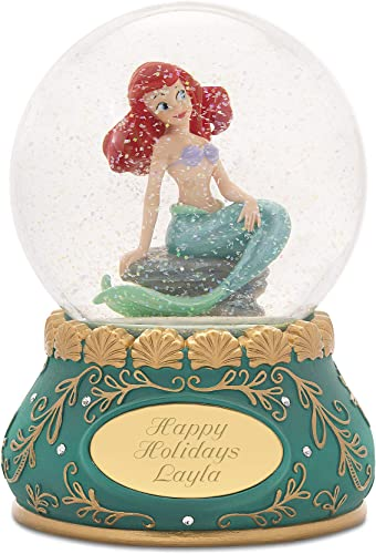 Things Remembered Personalized Jim Shore Disney Showcase Princess Ariel Snow Globe with Engraving Included