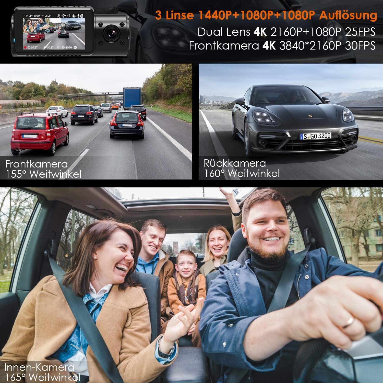 Vantrue N4 3 Lens Dashcam 1440p Dual 1080p Kamera Elektronik