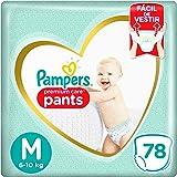 Fralda Pampers Pants Premium Care M 78 Unidades, Pampers