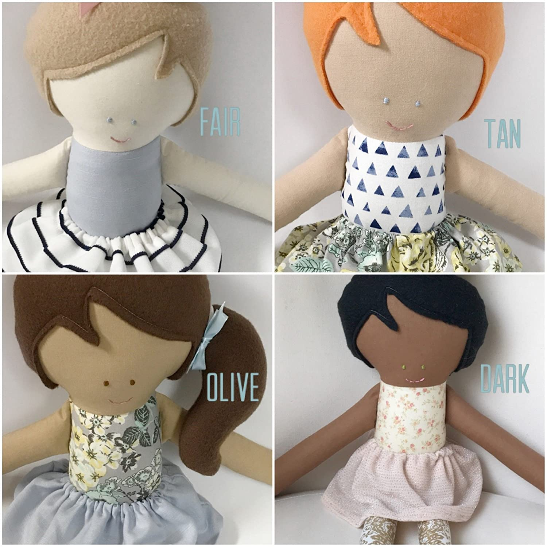 Hipster Fabric Handmade Doll