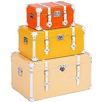 ts-ideen – Juego de 3 Maletas como baúl, Caja, cajón, Caja