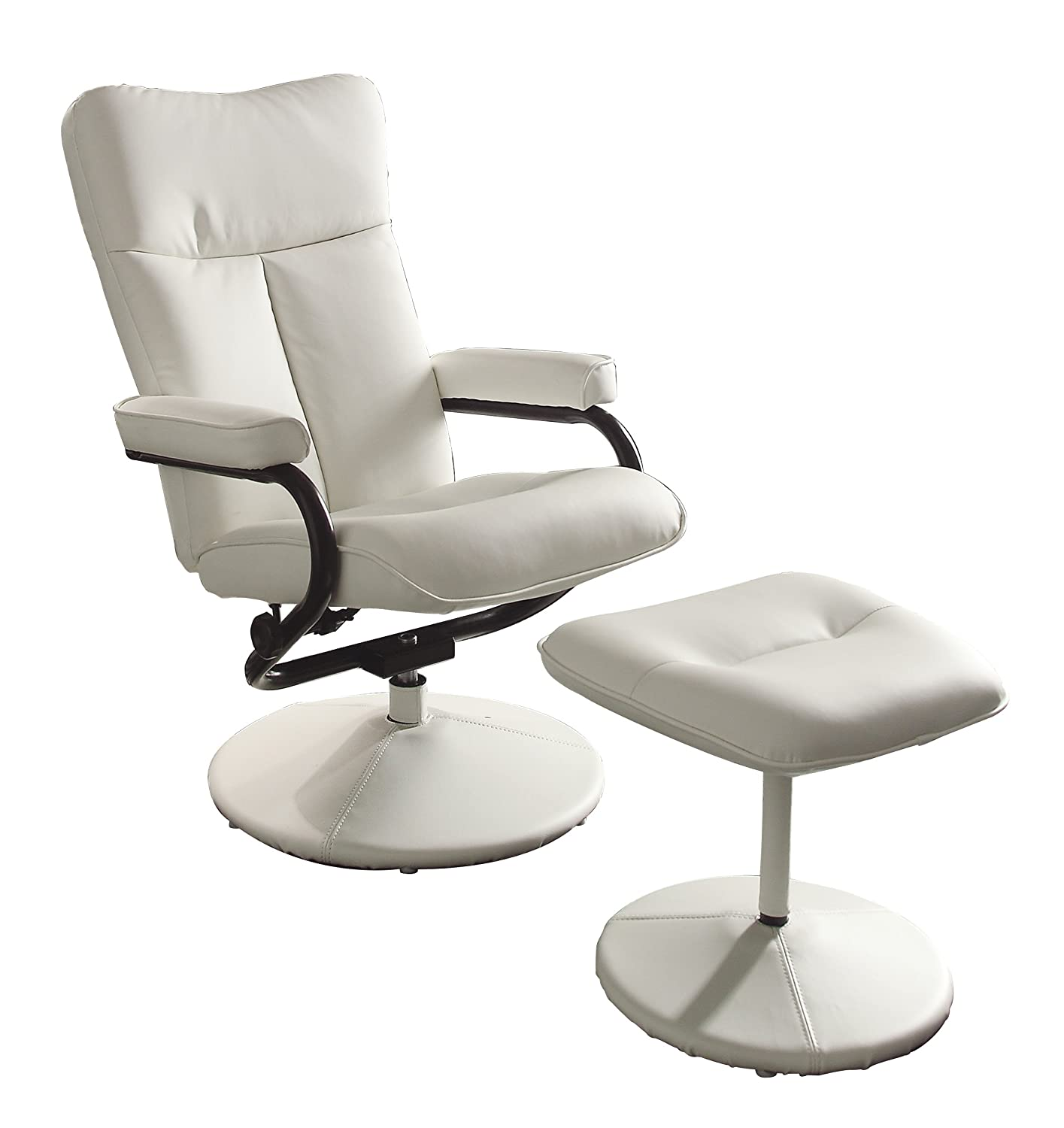 Amazon Homelegance 8555WHT 1 Swivel Reclining Chair with